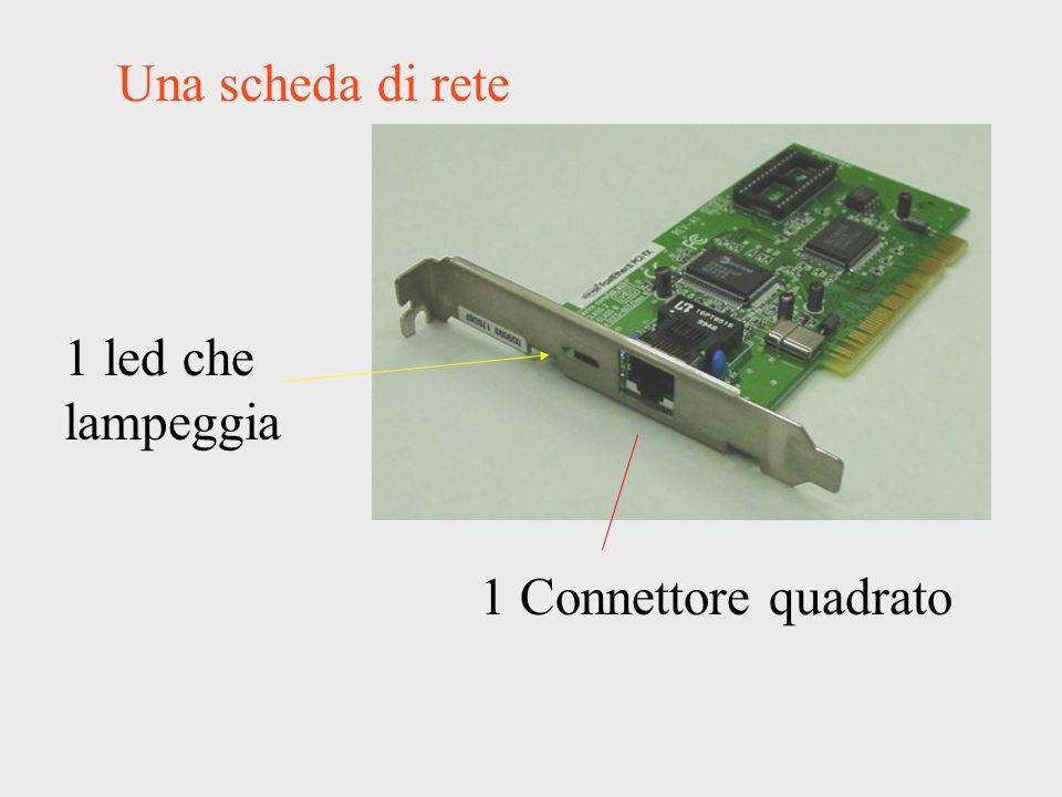 Una scheda di rete 1 Connettore quadrato 1 led che lampeggia