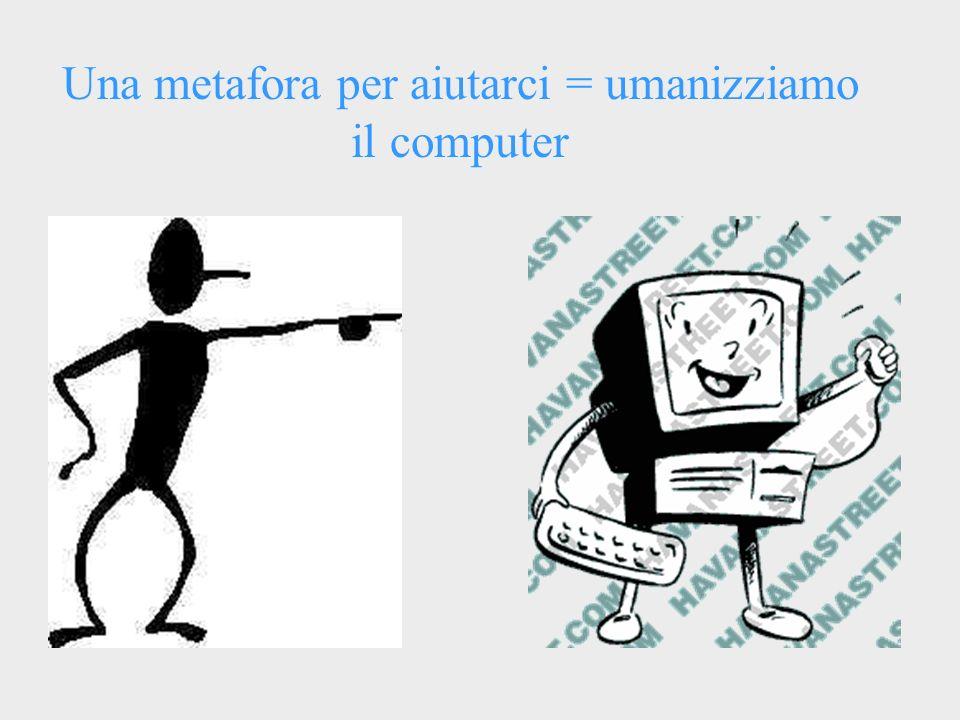 Una metafora per aiutarci = umanizziamo il computer
