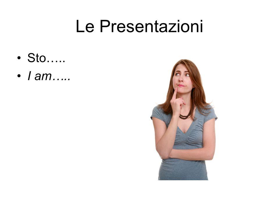 Le Presentazioni Sto….. I am…..