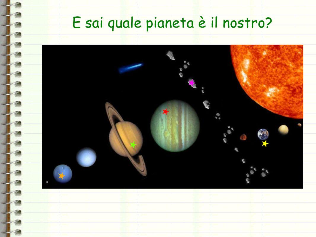 E sai quale pianeta è il nostro?