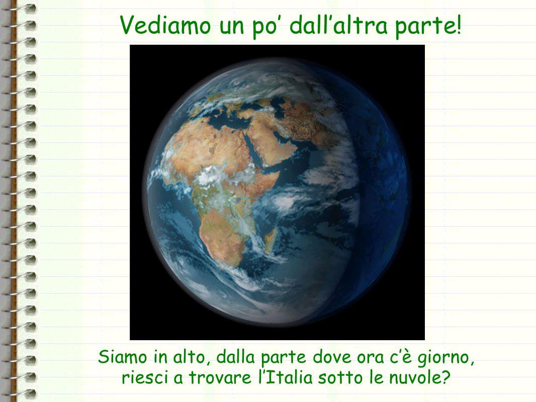 Vicino alla stellina verde si vede una Sicilia piccola piccola.