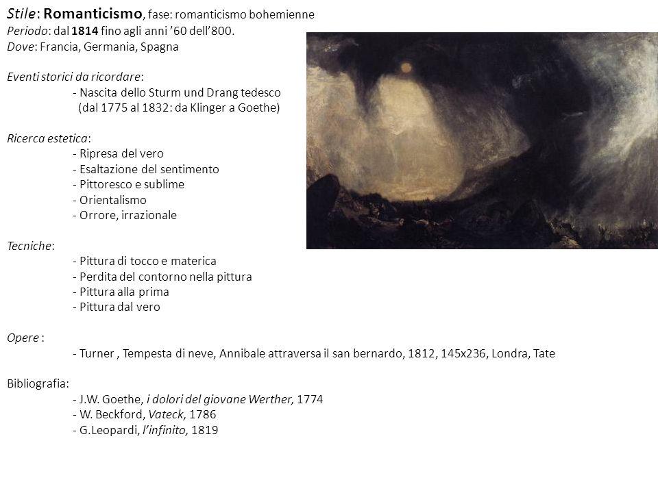 Stile: Futurismo Periodo: 1909 – anni 30 del 900 Dove: Italia Eventi storici da ricordare: - 20 Febbraio 1909, F.T.Marinetti: primo manifesto tecnico del Futurismo pubblicato su le Figaro - 1915 entrata in guerra dellItalia Ricerca estetica: - Velocità, dinamismo, modernità.