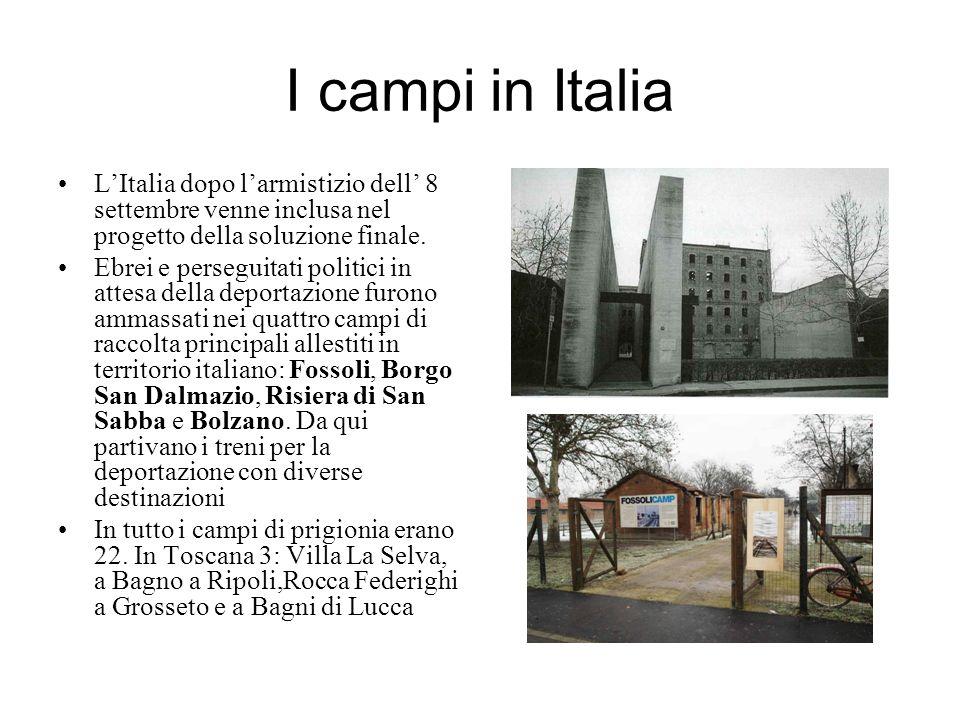 I campi in Italia LItalia dopo larmistizio dell 8 settembre venne inclusa nel progetto della soluzione finale. Ebrei e perseguitati politici in attesa