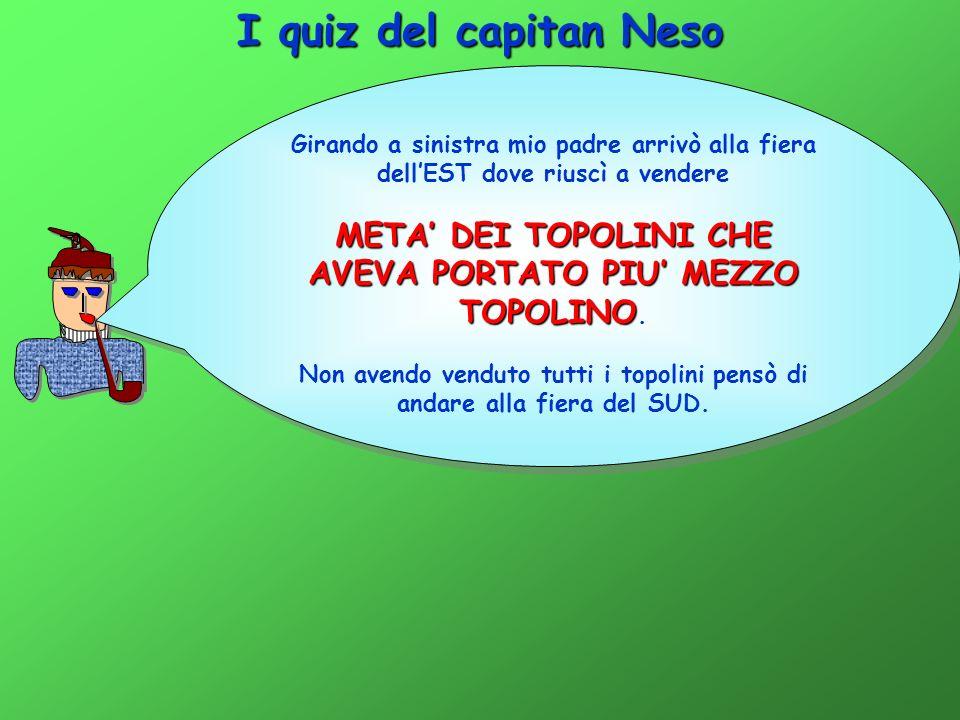 I quiz del capitan Neso Dopo aver camminato per un po arrivò ad un incrocio da dove partivano 3 strade e lì incontrò 3 donne.