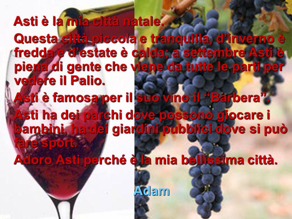 Asti è la mia città natale.Asti è la mia città natale.