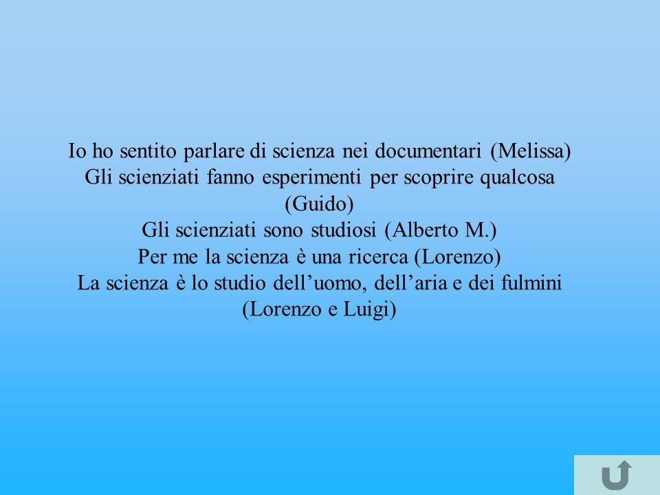 E qualcosa di importante (Diego) E lo studio in cui si lavora (Matteo) E una cosa interessante (Valentina) E uno studio difficile, ma importante (Gior