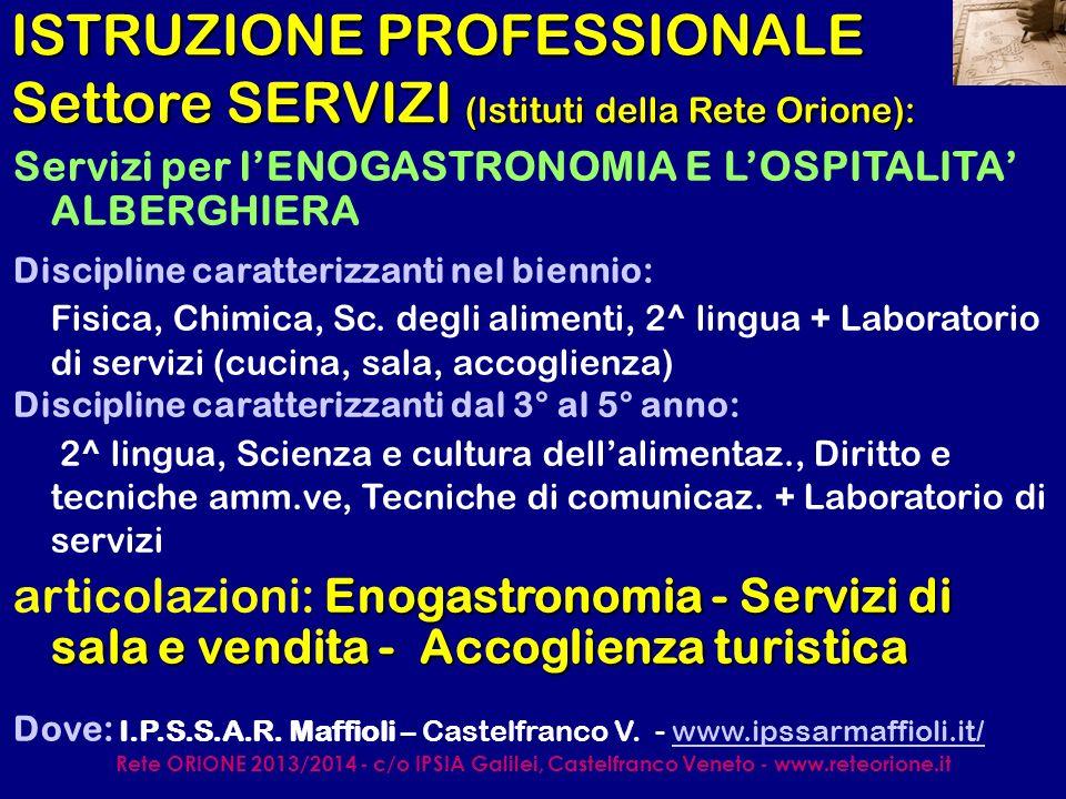Rete ORIONE 2013/2014 - c/o IPSIA Galilei, Castelfranco Veneto - www.reteorione.it ISTRUZIONE TECNICA