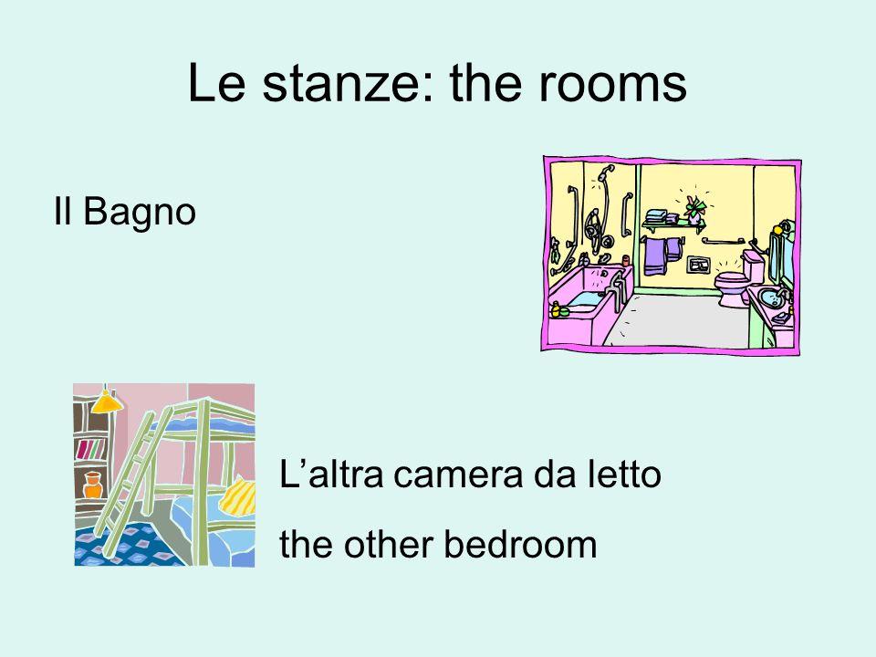 Le stanze: the rooms Lo studio: the den/the study Lo scantinato/il seminterrato: The basement