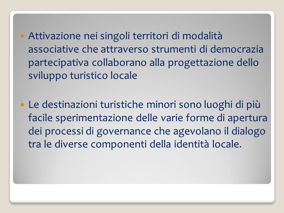 In Italia sono numerose le espressioni dei saperi rappresentate da diverse forme di cittadinanza attiva, che collaborano allinterno di progetti di valorizzazione dellidentità locale Le amministrazioni pubbliche sono disponibili e accettano altri punti di vista e diverse priorità che riportano nelle loro agende politiche