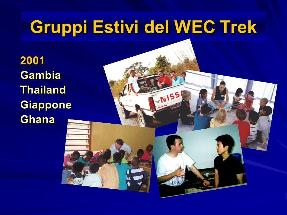 Gruppi Estivi del WEC Trek 2001GambiaThailandGiapponeGhana