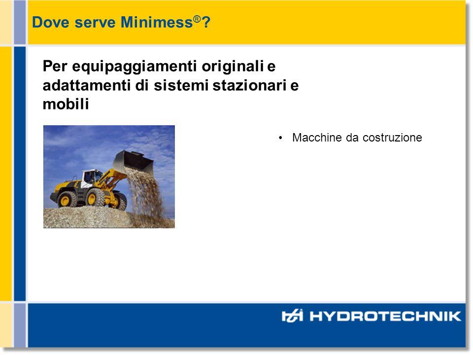 Macchine da costruzione Per equipaggiamenti originali e adattamenti di sistemi stazionari e mobili Dove serve Minimess ® ?