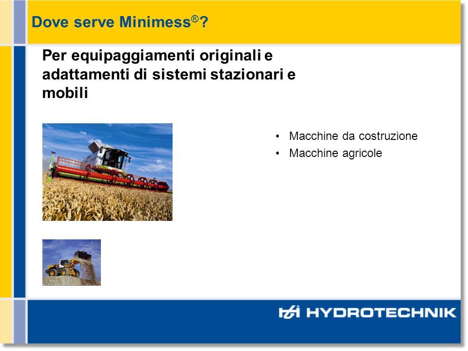 Macchine da costruzione Macchine agricole Per equipaggiamenti originali e adattamenti di sistemi stazionari e mobili Dove serve Minimess ® ?