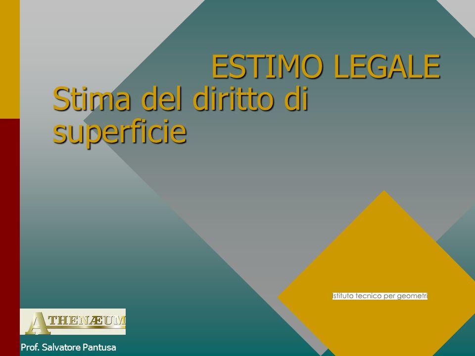 ESTIMO LEGALE Stima del diritto di superficie ESTIMO LEGALE Stima del diritto di superficie Prof.