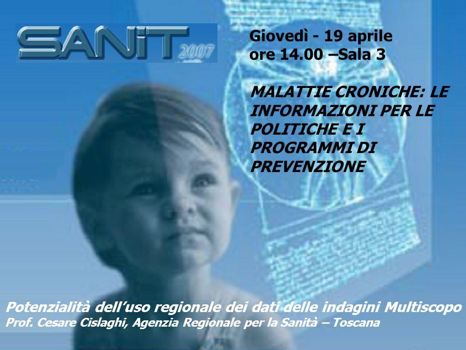 Istat Indagine statistica multiscopo sulle famiglie Condizioni di salute e ricorso ai servizi sanitari 2004-2005