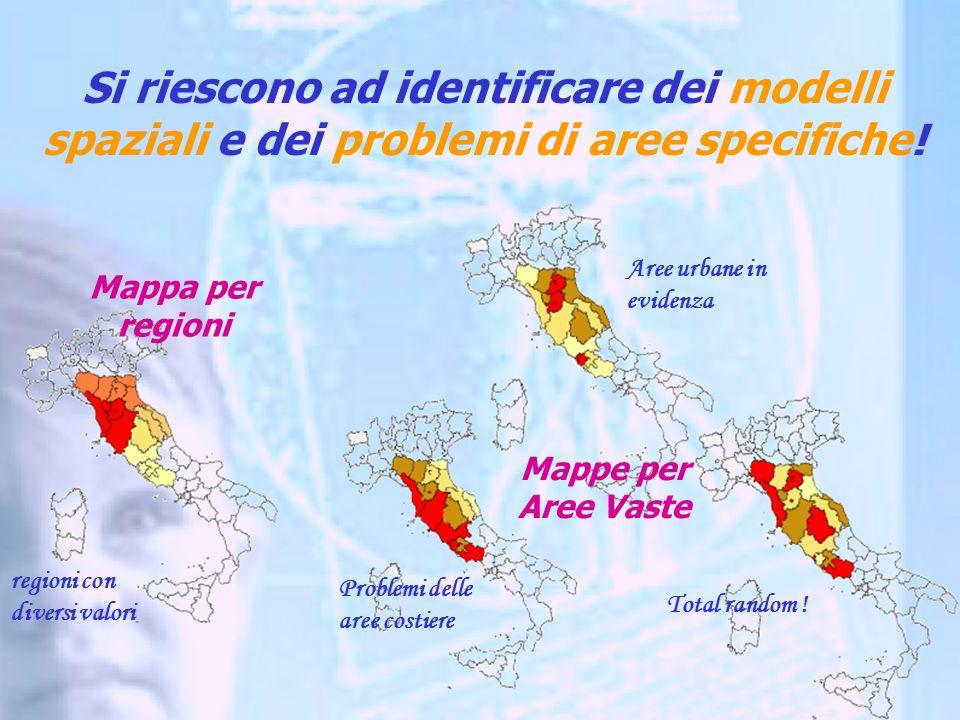 regioni con diversi valori Aree urbane in evidenza Problemi delle aree costiere Total random .