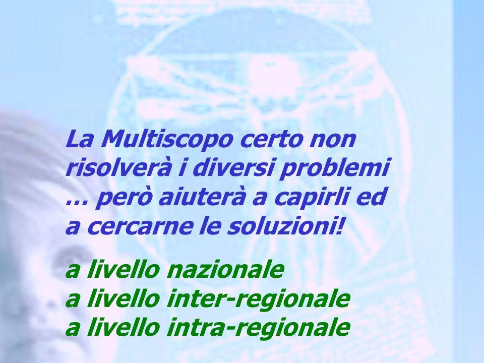 La Multiscopo certo non risolverà i diversi problemi … però aiuterà a capirli ed a cercarne le soluzioni.