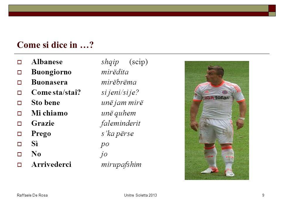 Raffaele De RosaUnitre Soletta 201310 Dove si parla linglese in Svizzera?