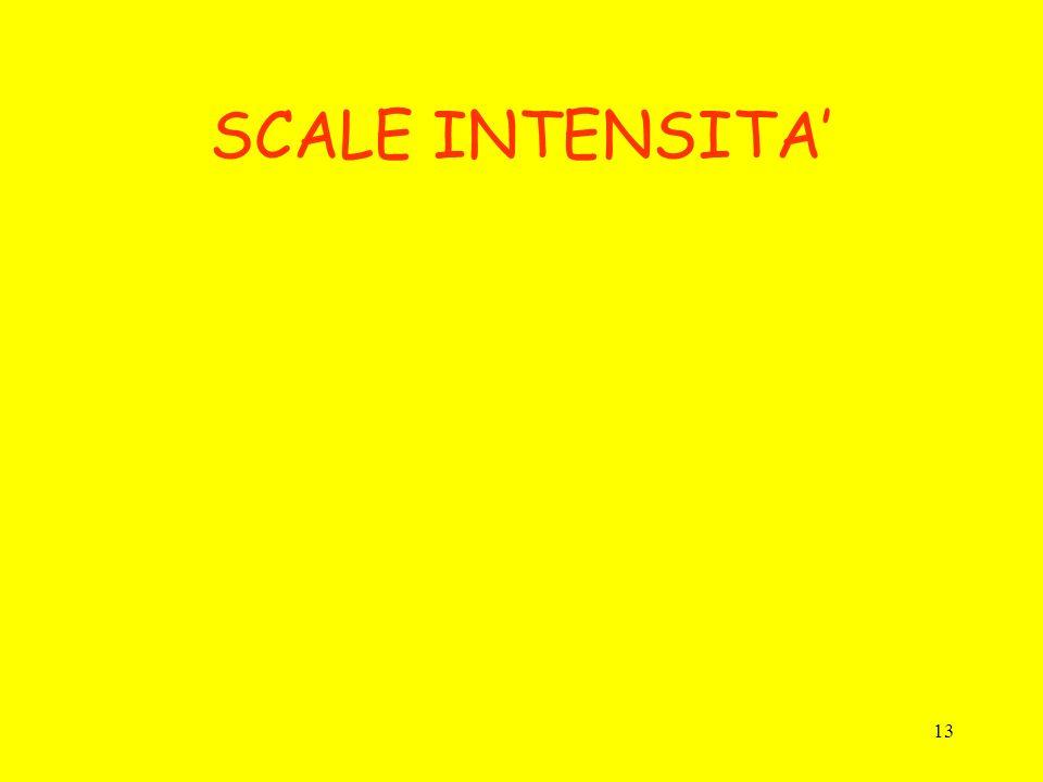 13 SCALE INTENSITA