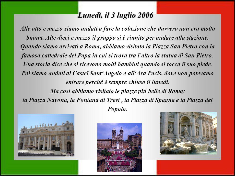 Martedì, il 4 luglio 2006 Oggi abbiamo visitato il Circo Massimo e il Palatino.