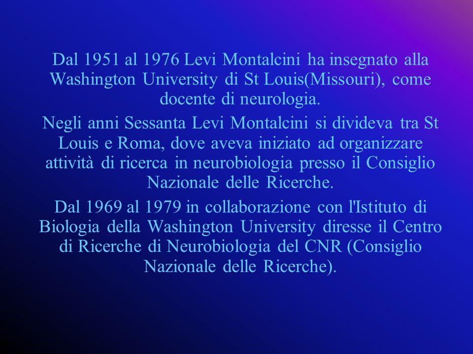 Nel 1977, tornata definitivamente in Italia, assunse la direzione del Laboratorio di Biologia cellulare del C.N.R.