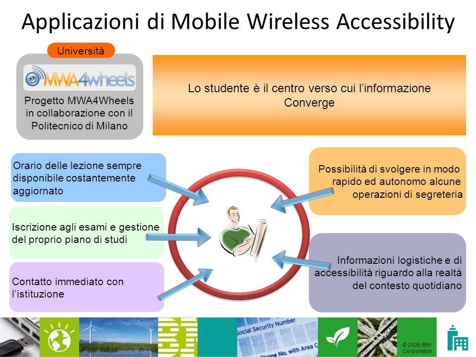 © 2009 IBM Corporation MWA Vision Suite: come funziona.