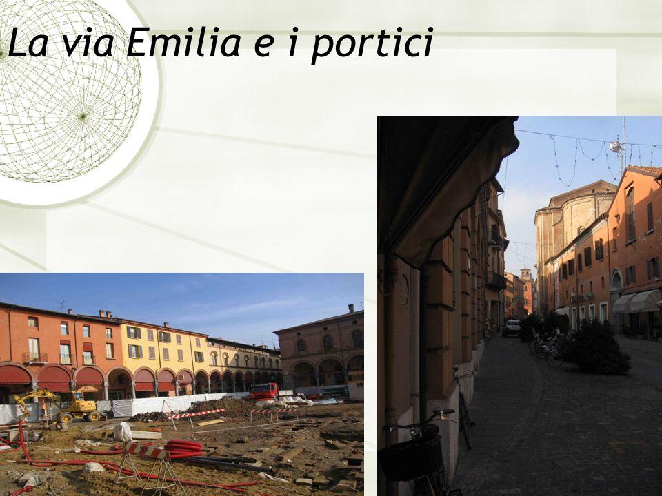 La via Emilia e i portici