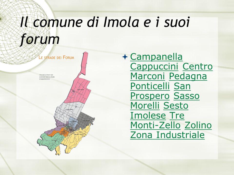 Il comune di Imola e i suoi forum Campanella Cappuccini Centro Marconi Pedagna Ponticelli San Prospero Sasso Morelli Sesto Imolese Tre Monti-Zello Zol