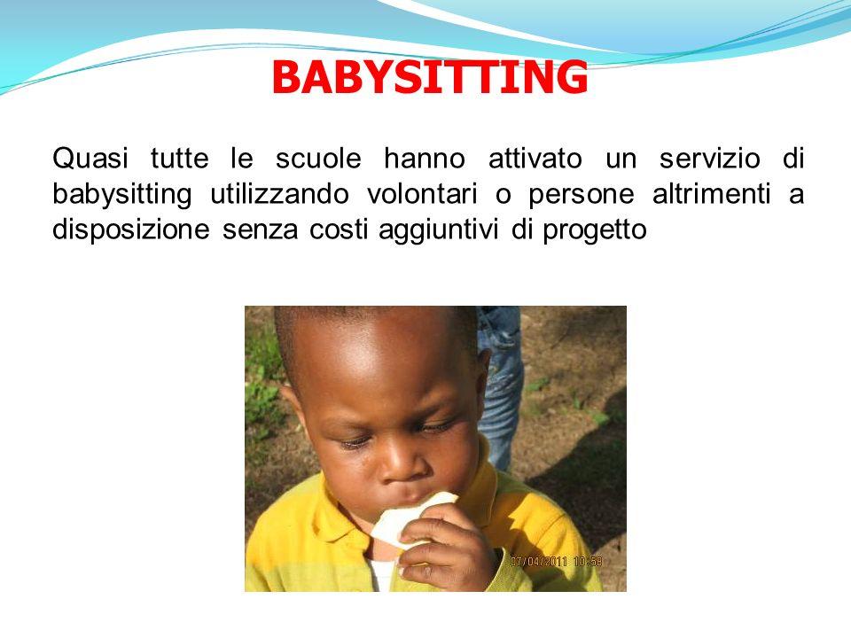 BABYSITTING Quasi tutte le scuole hanno attivato un servizio di babysitting utilizzando volontari o persone altrimenti a disposizione senza costi aggi