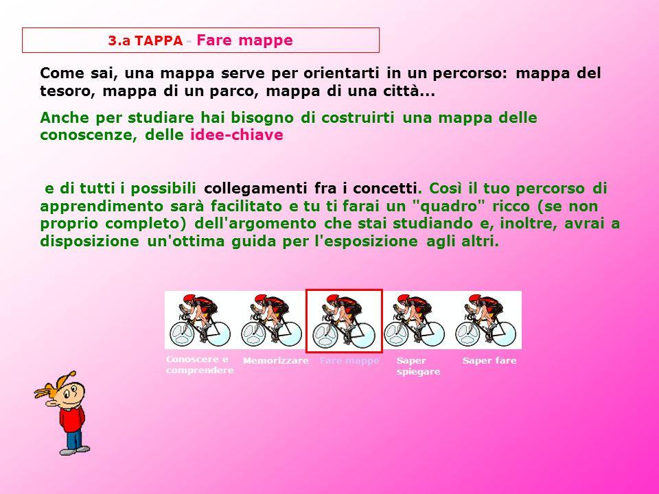 3.a TAPPA - Fare mappe Come sai, una mappa serve per orientarti in un percorso: mappa del tesoro, mappa di un parco, mappa di una città... Anche per s