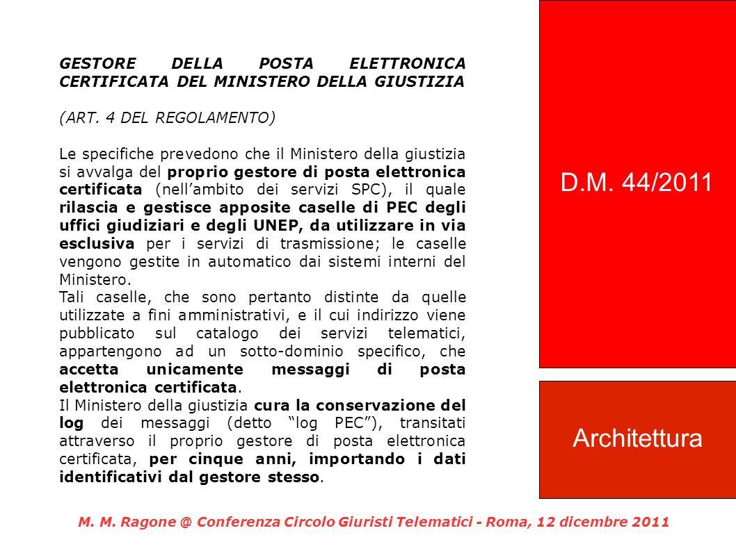 GESTORE DELLA POSTA ELETTRONICA CERTIFICATA DEL MINISTERO DELLA GIUSTIZIA (ART.