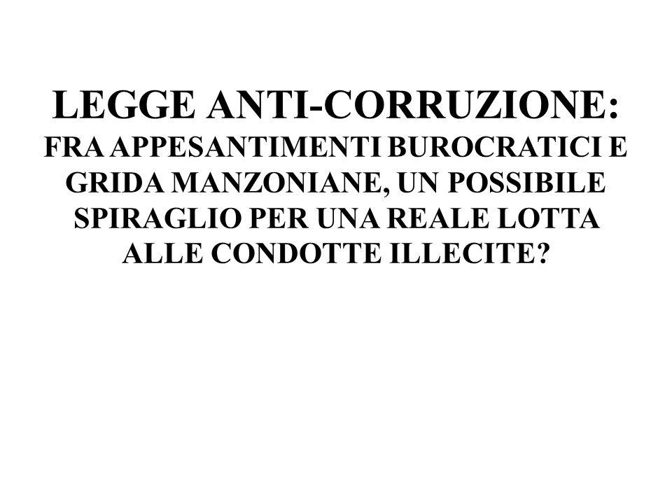 LAUTORITA NAZIONALE ANTICORRUZIONE Art.34-bis – DL 179/2012, conv.