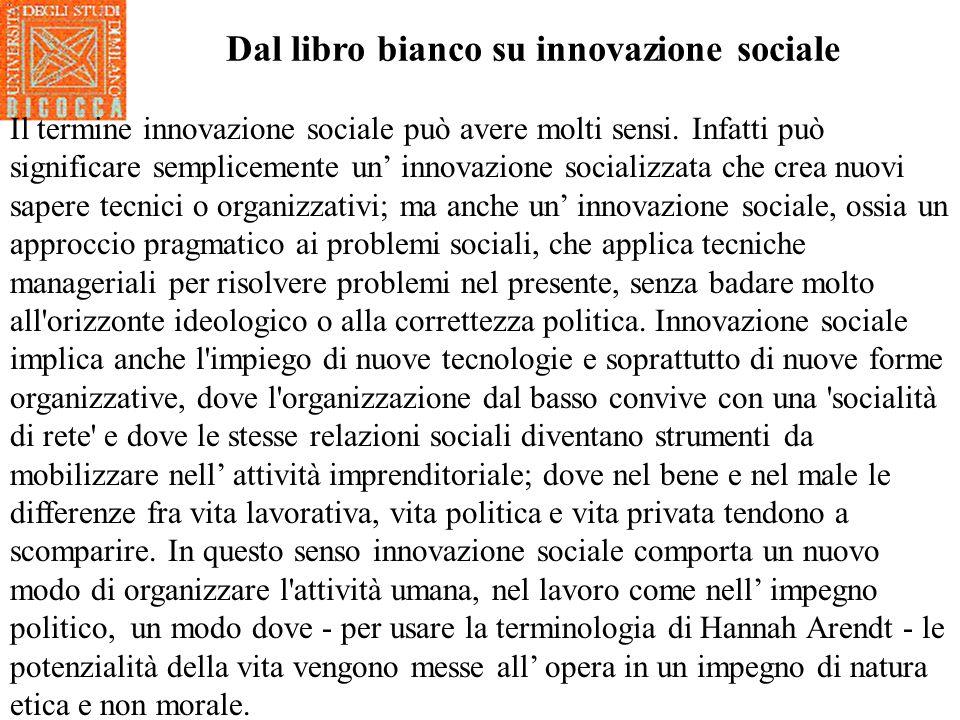 Ladattamento delle strutture familiari e parentali è un campo dove ci possono essere pratiche di innovazione sociale.