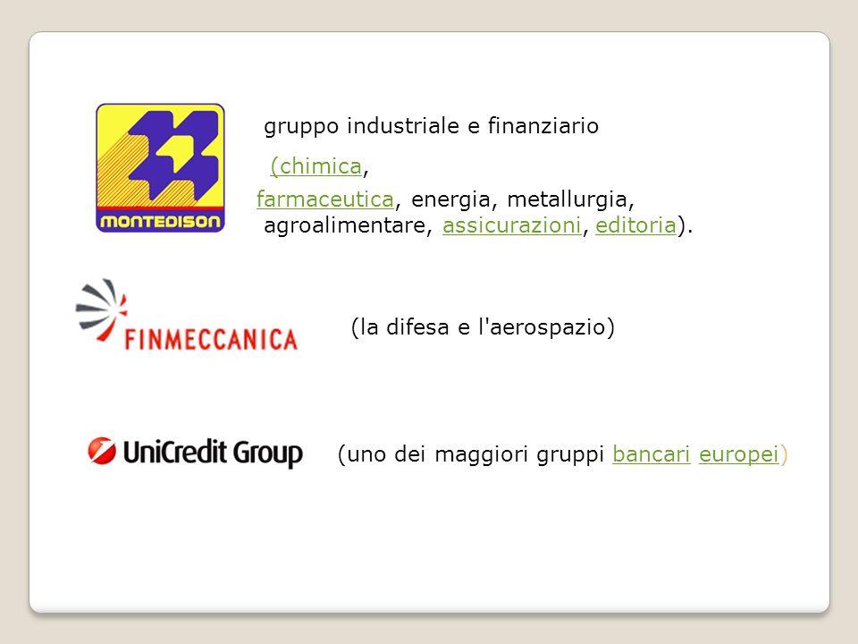 gruppo industriale e finanziario (chimica(chimica, farmaceuticafarmaceutica, energia, metallurgia, agroalimentare, assicurazioni, editoria).assicurazi
