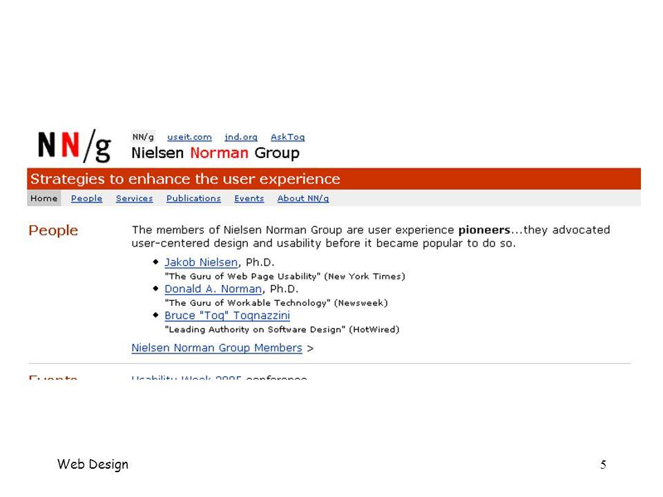 6 Home Page Come far arrivare il messaggio –Welcome blurb concisa descrizione del sito