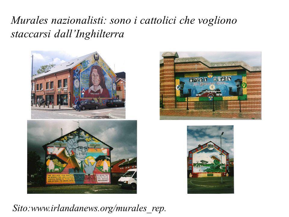 Murales nazionalisti: sono i cattolici che vogliono staccarsi dallInghilterra Sito:www.irlandanews.org/murales_rep.