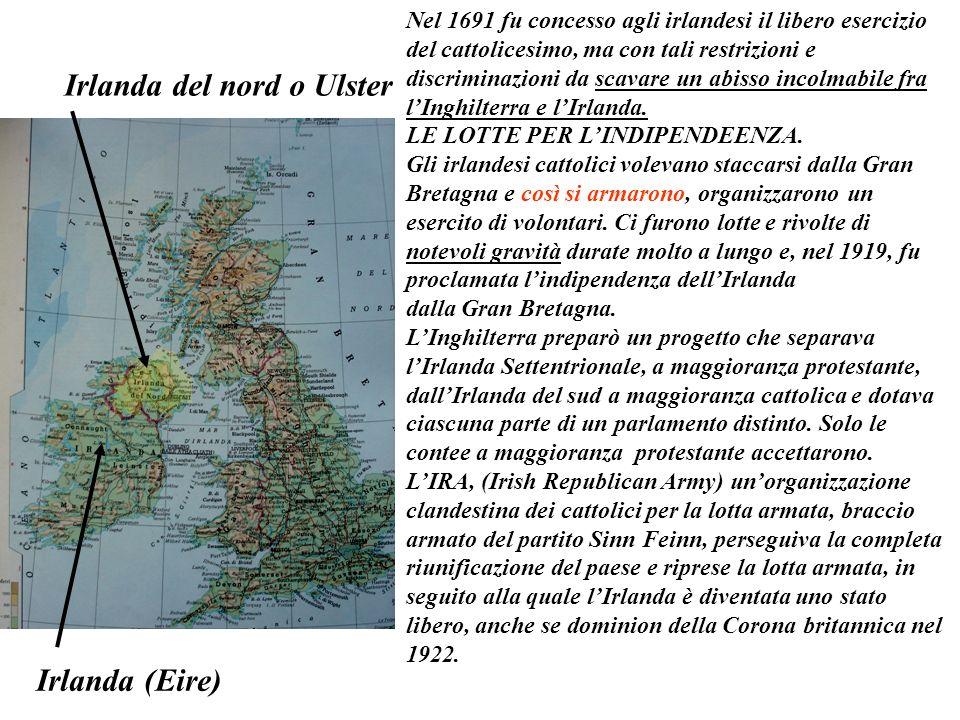 Nel 1691 fu concesso agli irlandesi il libero esercizio del cattolicesimo, ma con tali restrizioni e discriminazioni da scavare un abisso incolmabile