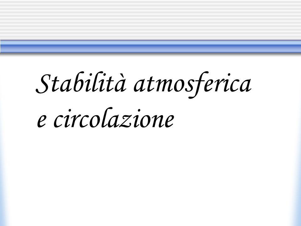 Stabilità atmosferica e circolazione