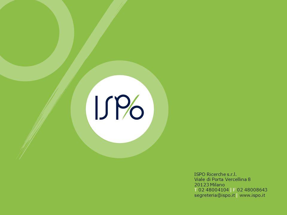 ISPO Ricerche s.r.l. Viale di Porta Vercellina 8 20123 Milano T 02 48004104 | F 02 48008643 segreteria@ispo.it | www.ispo.it