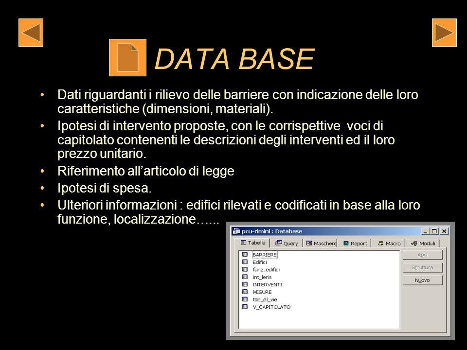 Restituzione del rilievo e dellelaborazione dei dati Attraverso la realizzazione di un Data Base Attraverso la realizzazione di cartografia Geo-refere