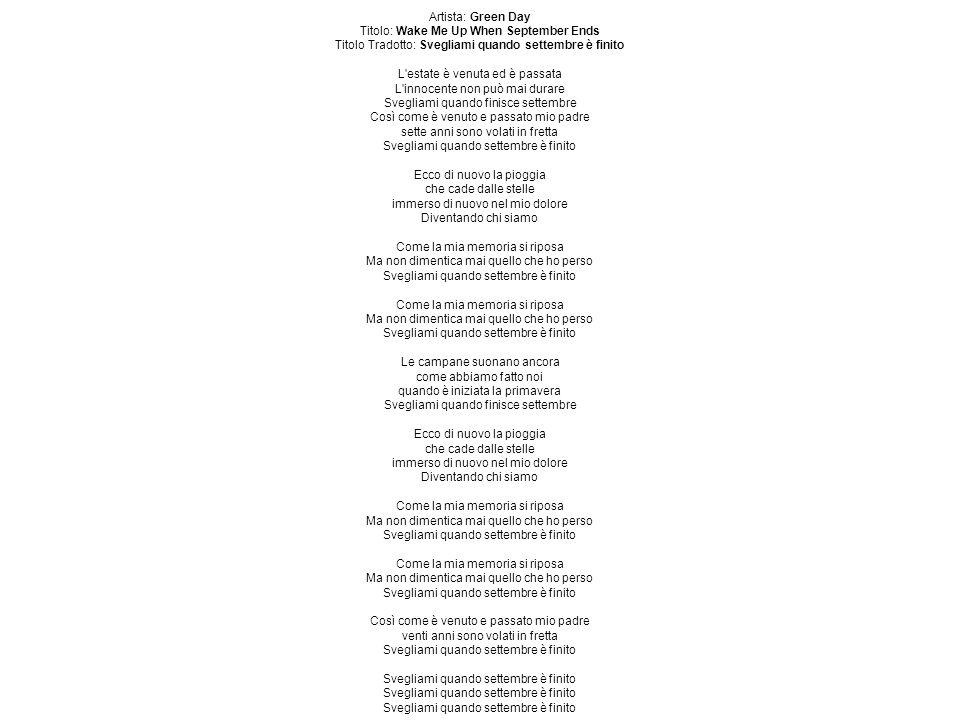 Artista: Green Day Titolo: Jesus Of Suburbia Titolo Tradotto: Gesù Della Periferia Parte 1.