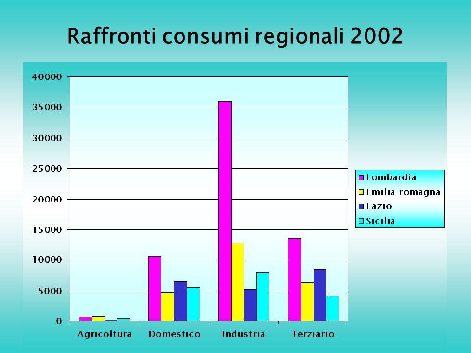 Raffronti consumi regionali 2002