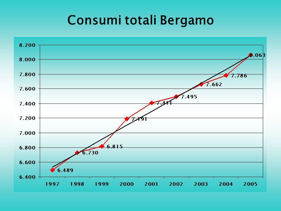 Consumi totali Bergamo