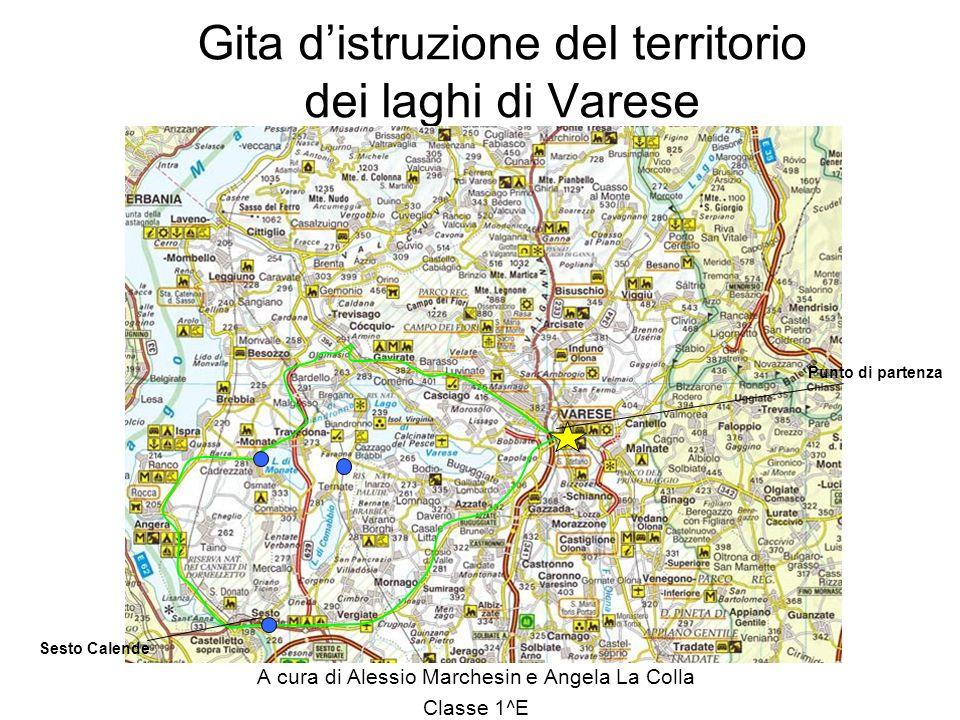 Gita distruzione del territorio dei laghi di Varese A cura di Alessio Marchesin e Angela La Colla Classe 1^E Sesto Calende Punto di partenza