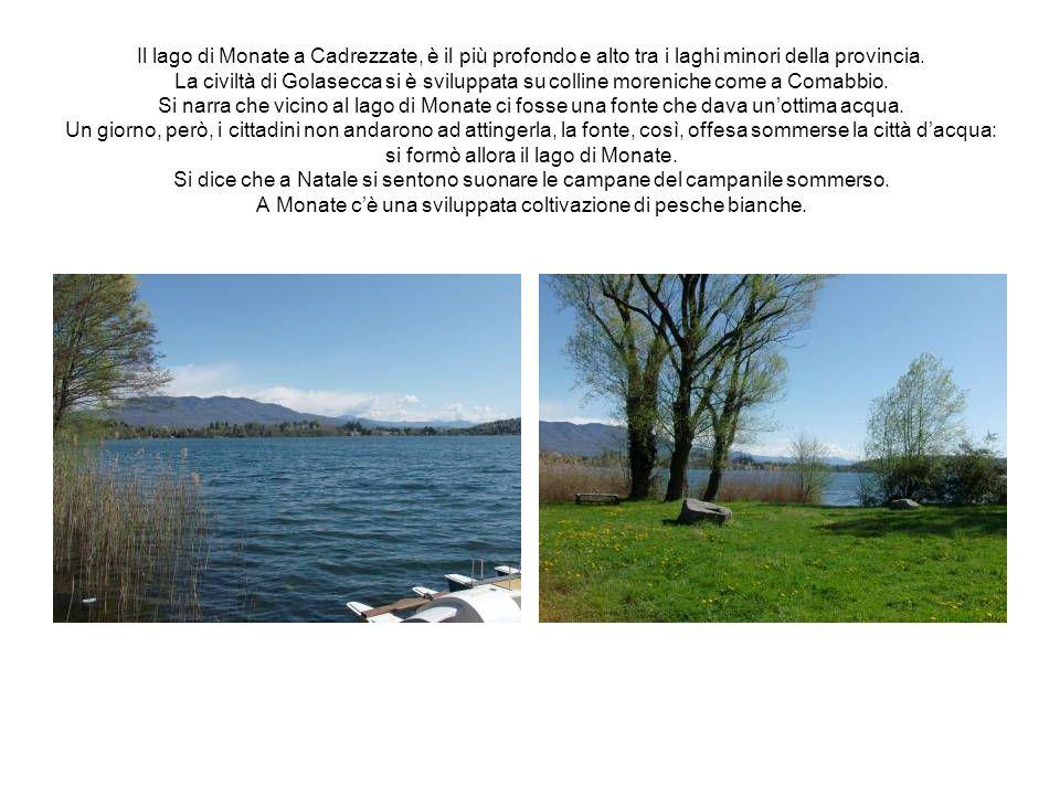 Il lago di Monate a Cadrezzate, è il più profondo e alto tra i laghi minori della provincia. La civiltà di Golasecca si è sviluppata su colline moreni
