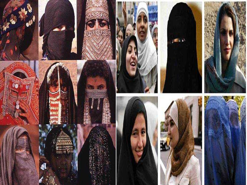 LE HIYAB : Velo caratteristico delle donne arabe. Lascia libero il viso, e molte donne lo portano come segno didentità. LA BURKA : Occulta completamen