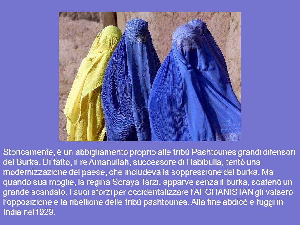 LA BURKA * * In realtà, lorgine del burka sembra risalire alla dinastia Aqueménide dellimpero persiano fondato da Ciro il Grande (V° secolo B.C.). Dal