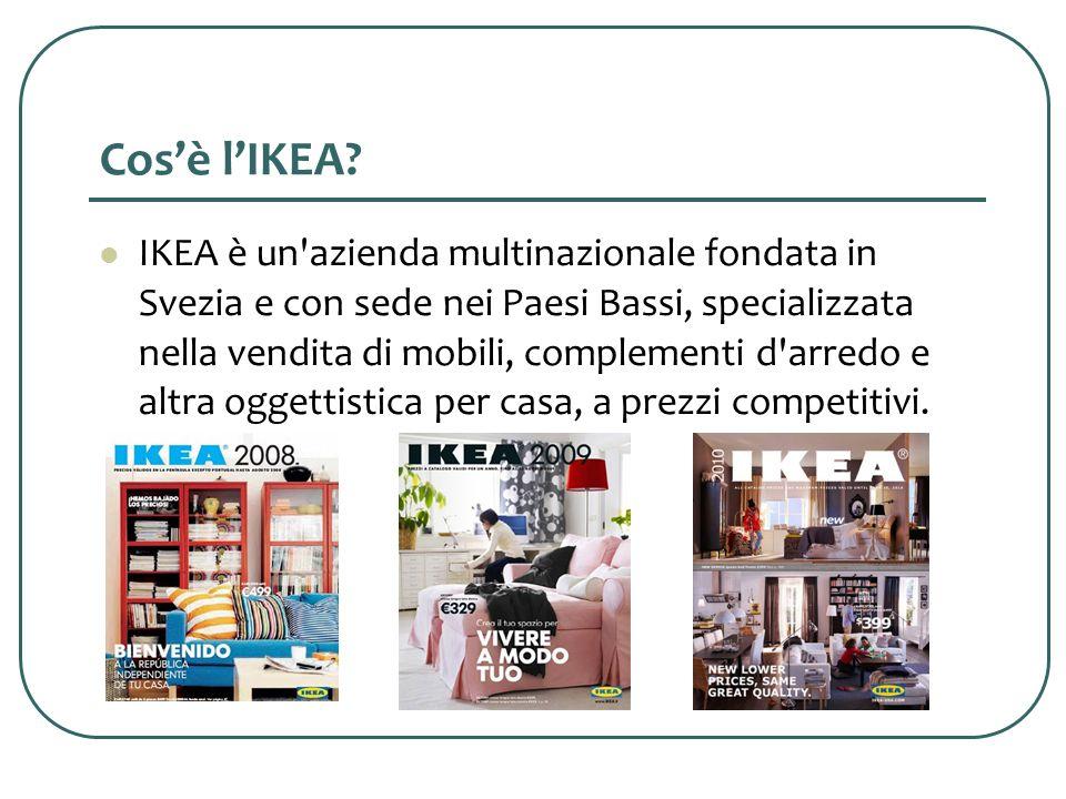 Cenni storici IKEA nasce nel 1943 grazie allintuizione e allo spirito diniziativa di Ingvar Kamprad, come ditta di vendita per corrispondenza di tanti piccoli articoli di uso quotidiano (quali penne, fiammiferi, orologi e persino bustine di semi e decorazioni natalizie).