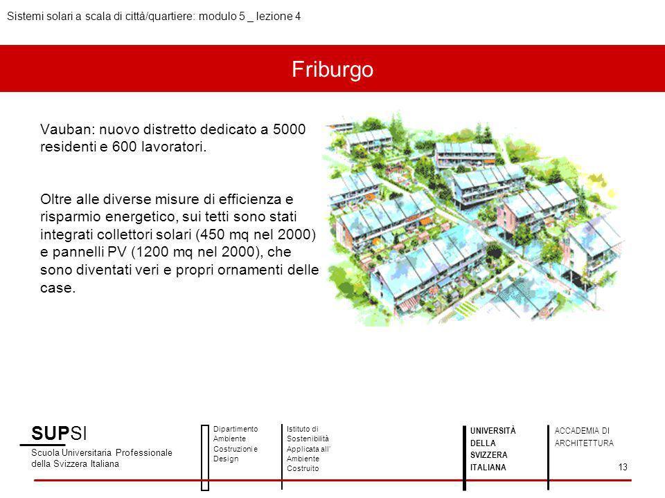 Vauban: nuovo distretto dedicato a 5000 residenti e 600 lavoratori. Oltre alle diverse misure di efficienza e risparmio energetico, sui tetti sono sta