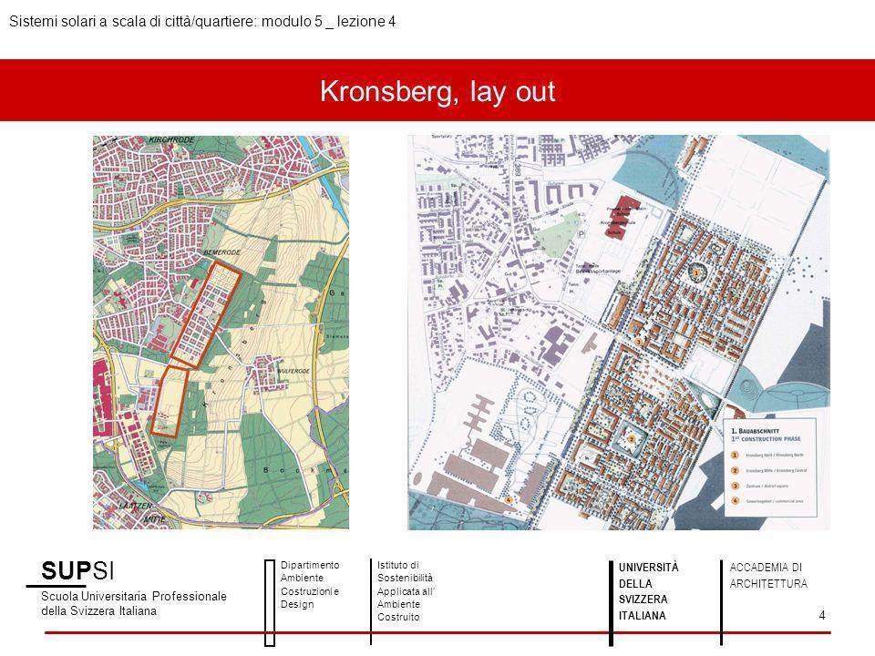 Kronsberg, lay out SUPSI Scuola Universitaria Professionale della Svizzera Italiana Dipartimento Ambiente Costruzioni e Design Istituto di Sostenibili