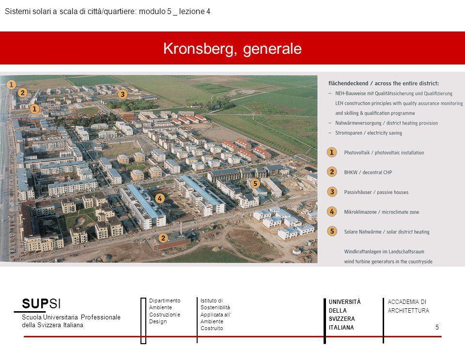Kronsberg, generale SUPSI Scuola Universitaria Professionale della Svizzera Italiana Dipartimento Ambiente Costruzioni e Design Istituto di Sostenibil